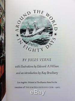 Around the World in Eighty Days by Jules Verne Limited Editions Club 1962