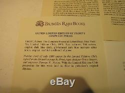 COMPLETE POEMS OF ROBERT FROST LIMITED EDITIONS CLUB SIGNED BY FROST WithEXTRAS