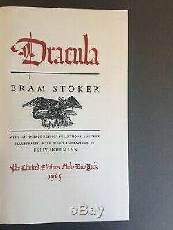 Dracula Bram Stoker Limited Editions Club Illustrated Felix Hoffman