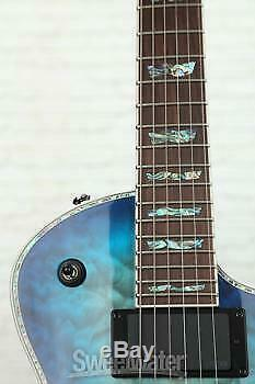ESP LTD EC-1000FR Quilted Maple Sweetwater Exclusive Open Box Violet Shadow