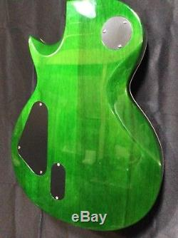 ESP LTD EC-1000 Deluxe Electric Guitar See Thru Green with Hardshell Case