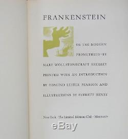 FRANKENSTEIN, or the Modern Prometheus SIGNED Limited Editions Club / 1934