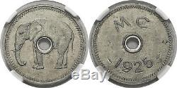 FRENCH EQUATORIAL AFRICA. Middle Congo 1925 Aluminum Token NGC MS62 Lec 6
