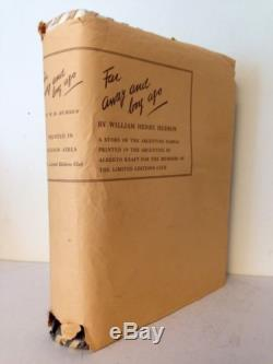 Far Away And Long Ago by W. H. Hudson Limited Editions Club 1943 withLetter Signed
