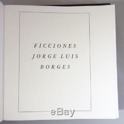 Ficciones Jorge Luis Borges Sol LeWitt 1984 Limited Editions Club Signed
