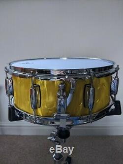 Gretsch Catalina Club Yellow Satin Flame Snare Drum 14 x 5.5 Limited Edition