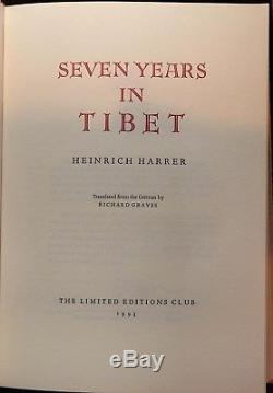 Harrer, Heinrich. Seven Years in Tibet. Limited Editions Club, 1993