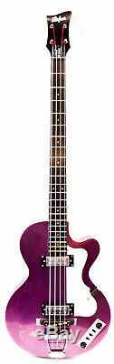 Hofner Ltd Ignition Club Electric Bass Pink, (purple) New