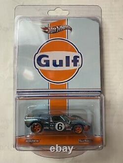 Hot Wheels RLC Red Line Club GULF FORD GT40 Real Riders #1051 / 4000 Protecto