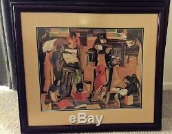 JACOB LAWRENCE Signed SILKSCREEN Numbered PEOPLE IN PARK Limited Editions Club