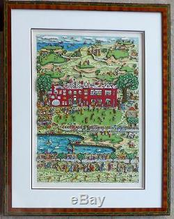 James Rizzi Daddy's Country Club 1989 Hand Signed 3-D Serigraph Pop Art