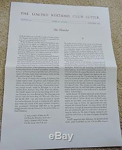 LIMITED EDITIONS CLUB The Flounder GUNTER GRASS signed/#'d 216/1000
