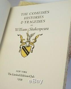 LIMITED EDITIONS CLUB. William Shakespeare. Slipcases. Clean Set. Illustrated