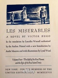 Les Miserables by Victor Hugo Limited Editions Club 1938 #384 1st Illus Signed