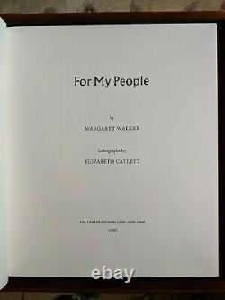Limited Editions Club For My People by Margaret Walker 12/400 Signed 1992