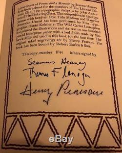 Limited Editions Club Irish Interest Poems And Memoirs Signed Seamus Heaney