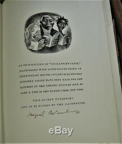 Limited Editions Club UNCLE TOM'S CABIN signed by Miguel Covarrubias