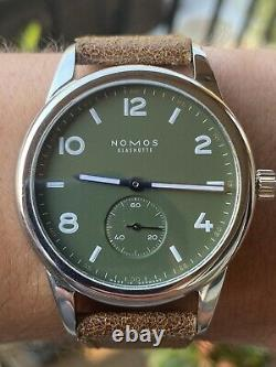 NOMOS GLASHUETTE Club 753. S3 Green Olive Dial Men's Watch Limited Edition