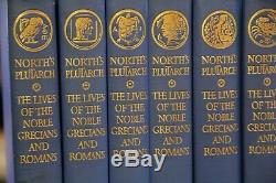 NORTH'S PLUTARCH, Limited Editions Club, 1st ed, 1941, signed, slipcases, 8 vol