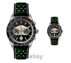 New Yema Limited-edition Mg Car Club Rallygraf Mens' Quartz Chronograph Watch