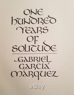 One Hundred Years of Solitude Gabriel Garcia Marquez Limited Editions Club