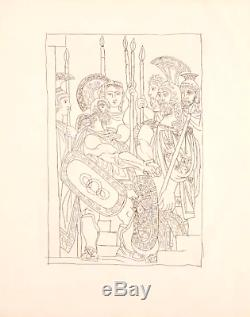 Original PICASSO Etching Aristophanes, Lysistrata 1934 Limited Editions Club