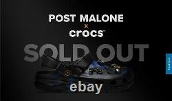 POST MALONE x CROCS Duet Max Clogs Size 7 CONFIRMED ORDER Limited Edition