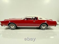 Pre-order 1/18 1974 Lincoln Continental Mark IV Red withWhite Roof by BoS Models