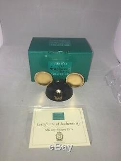 RARE Limited Edition Club 33 Mickey Mouse Ears with Gold Ears! Disney Disneyland
