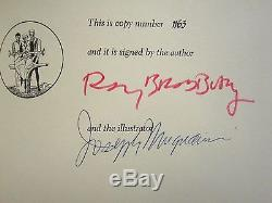 Ray Bradbury SIGNED Martian Chronicles LEC Limited Editions Club illustrated FE
