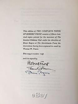 Robert Frost Complete Poems Limited Editions Club, 1950, Two Volumes Signed
