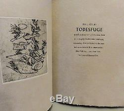 SIGNED #5/300 Clelan TODESFUGE Holocaust Poem LIMITED EDITIONS CLUB LEC Scarce