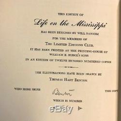 SIGNED by THOMAS HART BENTON LEC LIFE ON THE MISSISSIPPI by MARK TWAIN