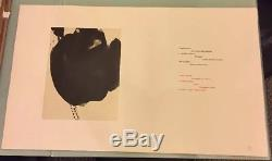 Signed ROBERT MOTHERWELL Limited Editions Club LITHOGRAPH Paz THREE POEMS