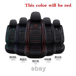 Standard Edition Car Seat Covers PU Leather Full Set For Interior Accessories