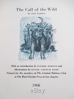 THE CALL OF THE WILD, Jack London, Limited Editions Club in Slipcase, # 22/1500