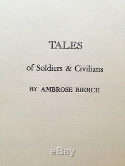 Tales of Soldiers & Civilians A. Bierce Limited Editions Club 1943 Signed withLt