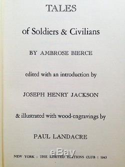 Tales of Soldiers & Civilians Limited Editions Club 1943 #384 withLetter Signed