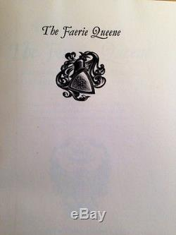 The Faerie Queene by Edmund Spenser Limited Editions Club 1953 #384 Illus Signed