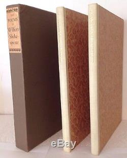 The Poems of William Shakespeare Limited Editions Club 1941 #959 Illus. Signed