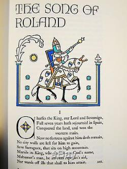 The Song of Roland. 1 of 1500 Signed by Valenti Angelo LEC 1938