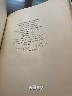 Ulysses Limited Editions Club SIGNED By James Joyce, Henry Matisse 1935 Mint