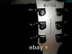 Used ESP LTD EC-1000 Electric Guitar (Silver) with hard-shell case