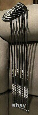 Used mens Limited Edition Taylormade P790 Black Irons P-4 Iron New Grips. Stiff