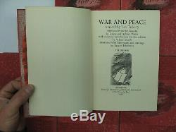 War & Peace Tolstoy 1938 LEC Limited Editions Club 6 Volume Set