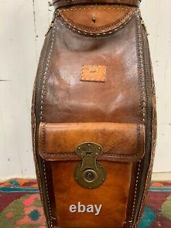 Will Leather Goods Limited Edition Tooled Golf Club Caddy Bag Club Cover NEW